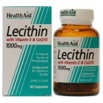 Health aid lecithin with coq10 1000mg and vit e 30 caps Αποτοξινωτικές κάψουλες με συνένζυμο Q10- farmakeioeshop overespa