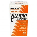 Health aid vit c 500mg rosehip chewable 60tabs - farmakeioeshop overespa