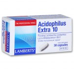 Lamberts Acidophilus Extra 10 30 caps Προβιοτικό για διαταραχή της ισορροπίας της εντερικής χλωρίδα Farmakeioeshop Overespa