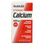 health aid Strong Calcium 600mg, Chewable 60tabs Δισκία για τον έλεγχο του νευρικού συστήματος Farmakeioeshop Overespa
