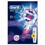 Oral B Pro 750 Pink Θηκη Ταξ. Box 1X1 Overhealth Overespa