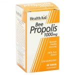 Health Aid Bee Propolis 1000mg, 60 tabs Συμπληρώματα διατροφής με αντιμικροβιακές ιδιότητες Farmakeioeshop Overespa