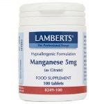 Lamberts Manganese Ειδικά συμπληρώματα, 5mg 100caps Farmakeioeshop Overespa